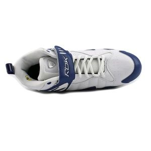 REEBOK PRO ALL OUT ONE MID MP MENS FOOTBALL CLEATS WHITE DARK ROYAL 12
